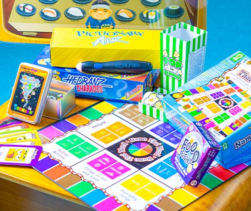 英語を交えたカードゲームやボードゲーム